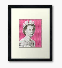 God Save The Queen - Pink Framed Print
