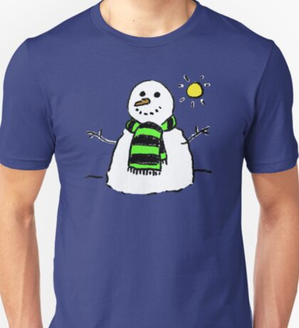 Snowman in the snow T-Shirt