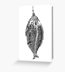 Fish with blood Greeting Card
