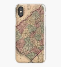 Vintage Map of South Carolina (1865) iPhone Case