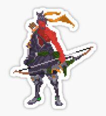 Red Hanzo Pixel Sticker