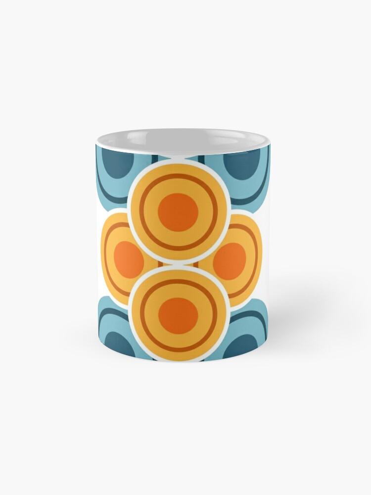 Alternative Ansicht von 70s Jahre Kreisreihen Tasse