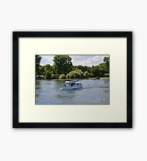 Grand Banks Style Motor Boat Framed Print