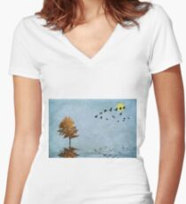 Migration Women's Fitted V-Neck T-Shirt