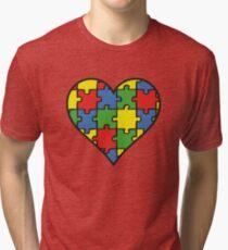Autism Awareness Heart Tri-blend T-Shirt
