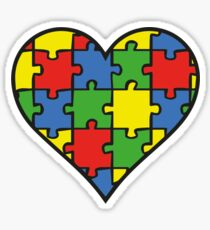 Autism Awareness Heart Sticker