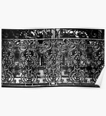 Wrought Iron Black and White Poster