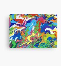 Horizontal Paint Flow Canvas Print