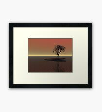 Dusk Sunset Framed Print