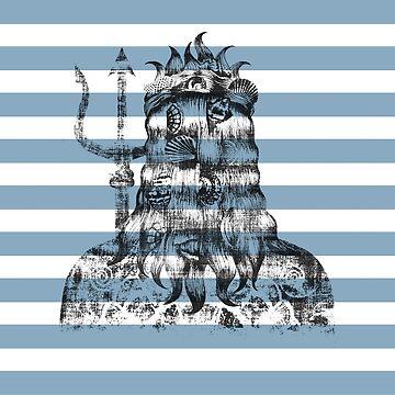 Poseidon Nautical Blue by DionisiSandra