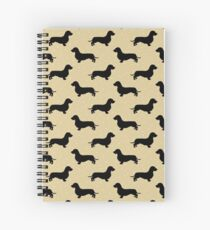 Wire Hair Dachshund Cream Pattern Sausage Dog Spiral Notebook