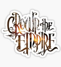 "Crown The Empire ""The Fallout"" Logo Sticker"