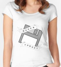 Floppy Disc - Never Forget Women's Fitted Scoop T-Shirt