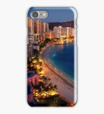Waikiki Beach and Honolulu Skyline, Hawaii iPhone Case/Skin