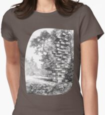 Jenga Tower Womens Fitted T-Shirt