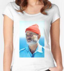 Bill Murray as Steve Zissou  Women's Fitted Scoop T-Shirt