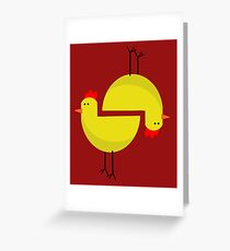 RED CHICKEN  Greeting Card