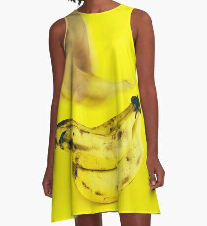 Schnapp dir eine Banane A-Linien Kleid