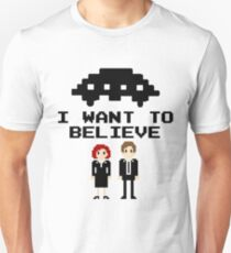 I Want To Believe 8bit T-Shirt