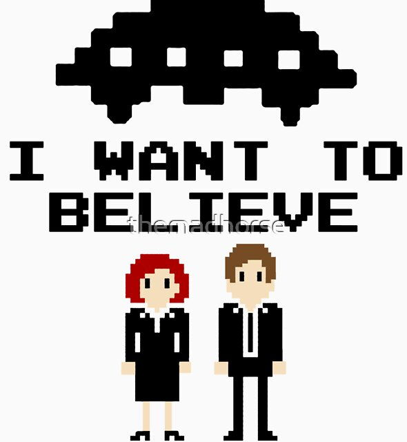 I Want To Believe 8bit by themadhorse