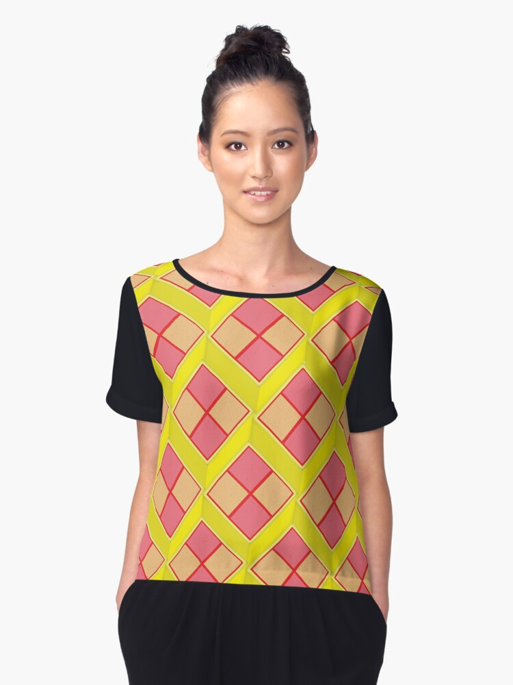 Battenburg Women's Chiffon Top Front
