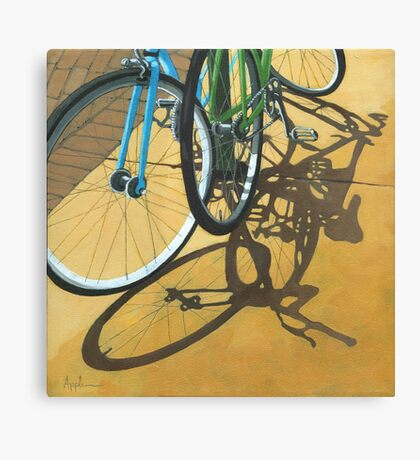 Out to Lunch - Bicycle art Canvas Print