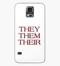 Pronouns - THEY / THEM / THEIR - LGBTQ Trans pronouns tees Case/Skin for Samsung Galaxy