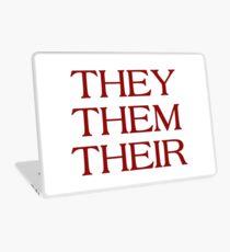 Pronouns - THEY / THEM / THEIR - LGBTQ Trans pronouns tees Laptop Skin