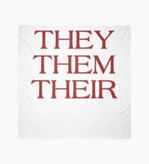 Pronouns - THEY / THEM / THEIR - LGBTQ Trans pronouns tees Scarf