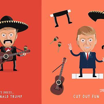 Lets Dress...Donald Trump No.1 Mexican Mariachi by shufti