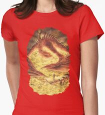 Sleeping Smaug Womens Fitted T-Shirt