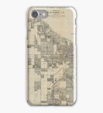 Vintage Map of Tacoma Washington (1907) iPhone Case/Skin