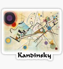 Kandinsky - Composition No. 8 Sticker