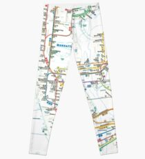 MTA-NYC-Manhattan Subway Line/Map Leggings