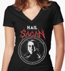 HAIL SAGAN Women's Fitted V-Neck T-Shirt