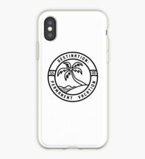 permanent vacation iPhone Case
