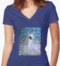 Walk In The Garden Women's Fitted V-Neck T-Shirt