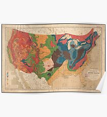 Vintage United States Geological Map (1872) Poster