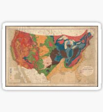 Vintage United States Geological Map (1872) Sticker