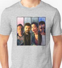 Prediger vier Panel (Eugene, Jesse, Tulip, Cassidy) Slim Fit T-Shirt