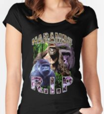R.I.P. Harambe Vintage Hip-Hop Women's Fitted Scoop T-Shirt