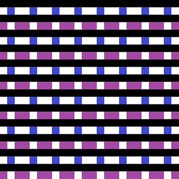 Black, White, Blue, and Purple Pattern by RaeSyndrome