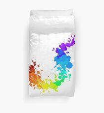 Rainbow Splatter Duvet Cover
