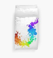Rainbow Splatter Duvet Cover