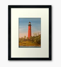 Jupiter Lighthouse, Jupiter Florida Framed Print