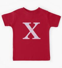 Letter X Blue And Pink Dots And Dashes Monogram Initial Kids Clothes