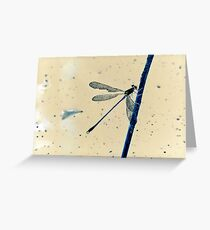Inverted Dragonfly Greeting Card