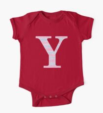 Letter Y Blue And Pink Dots And Dashes Monogram Initial Kids Clothes