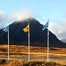 The Buachaille and Flags by beavo