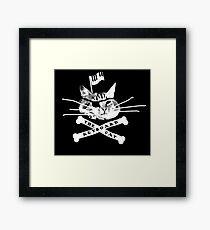 Keyboard Cat Pirate Framed Print